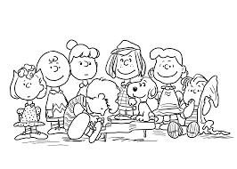peanuts characters thanksgiving coloring pages coloring