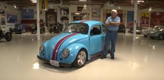 modified volkswagen beetle jay leno drives a rotary powered volkswagen beetle