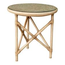 Rattan Side Table Mcguire Style Rattan Side Table Chairish
