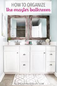 how to organize small bathroom cabinets master bathroom organization ideas and updates abby lawson