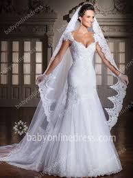 Wedding Dresses With Straps Glorious Wedding Dresses Straps Cap Sleeve Mermaid Sweep Train