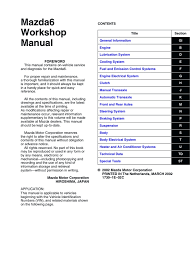 mazda 6 workshop manual throttle electrical connector