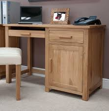 Wood Computer Desk Opus Solid Oak Single Pedestal Desk Furniture4yourhome