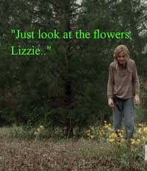 Look At The Flowers Meme - just look at the flowers lizzie poster twd keep calm o matic
