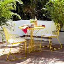 Yellow Bistro Chairs Impressive Yellow Bistro Table With Home Design Modern Outdoor