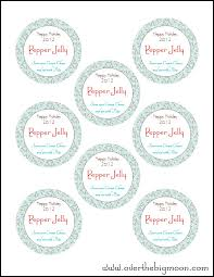 holiday jar labels