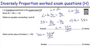 how to do direct and inverse proportion gcse maths revision worked
