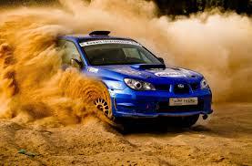 subaru blue impreza ralli pesok subaru blue in desert racing
