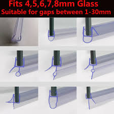 rubber plastic seal for bath shower screen fits 4 8mm glass 1 rubber plastic seal for bath shower screen fits 4 8mm glass 1 30mm gaps ebay