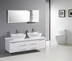 Contemporary Bathroom Vanity Ideas Grey Wall White Vanity White Tile Bathroom Grown Up Thoughts