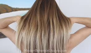 wash hair after balayage highlights modern bohemian lifestyle how i maintain ombre balayage hair at home