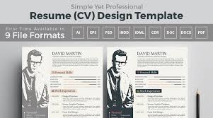 simple yet frofessional resume cv design templates