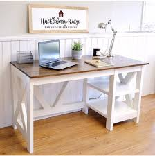 Office Desk Diy Farmhouse X Office Desk Handmade