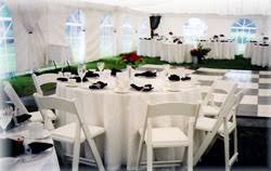 renting chairs for a wedding eau wedding supplies tent rentals a 1 express rental