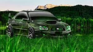 subaru green subaru impreza wrx sti jdm crystal nature car 2014 el tony