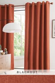 Orange Thermal Curtains Buy Boucl礬 Eyelet Blackout Thermal Curtains From Next Australia