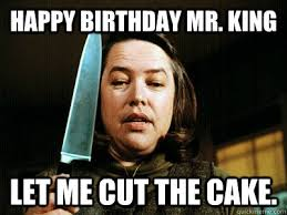 Stephen King Meme - 9 horror ific cakes for stephen king s birthday quirk books