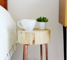 wood slice side table diy copper pipe and wood slice side table shelterness