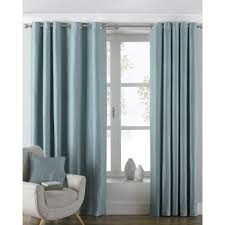 Pair Lined Curtains Curtains Plain Pencil Pleat Eyelet Ring