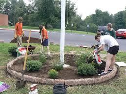 Front Porch Flag Pole Flagpole Landscaping Ideas U2014 Bistrodre Porch And Landscape Ideas