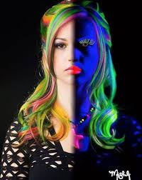 glow in the makeup glow in the hair and makeup glow in the rainbow hair