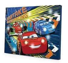 disney cars bedroom led canvas disney cars 2 kids bedroom wall art night light mount