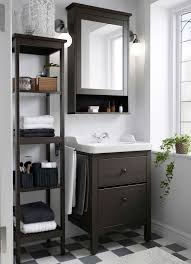 Cabinet In Room A Small Traditional Bathroom With Hemnes Washstand Shelf And