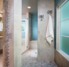 miami tile shower bench bathroom transitional with freestanding