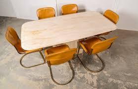 Travertine Dining Table Mid Century High Quality Travertine Dining Table Hpvintage Com