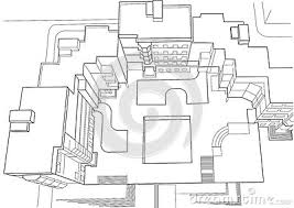 sketch of multi story building top view