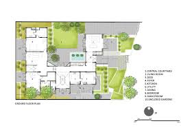 ground floor plan gallery of courtyard house architecture paradigm 21