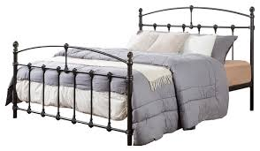 Iron Platform Bed Alissa Shabby Chic Antique Dark Bronze Iron Metal Platform Bed
