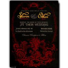 printable wedding invitations by divine charm digital goth