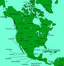 America Map With Names by Image North America Blank Map With Names Gif