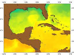 temperature map of florida the loop current