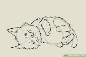 4 ways to draw a kitten wikihow