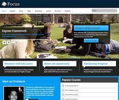 joomla education templates focus responsive education community template for joomla