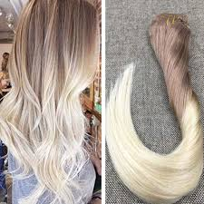 light brown hair light brown to blonde balayage clip in hair extensions 7 613