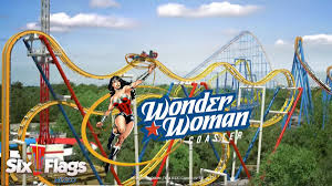 X2 Six Flags Six Flags Mexico 2018 Wonder Woman Free Fly Coaster Theme Park