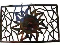 smw248 custom metal home decor wall art sun panel sunriver metal