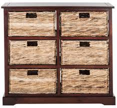 storage unit with wicker baskets amh5740c storage furniture furniture by safavieh