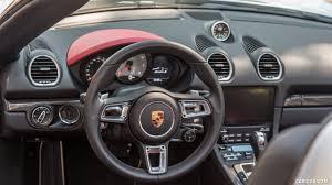 Porsche Boxster Interior - 2017 porsche 718 boxster s color gt silver us spec interior