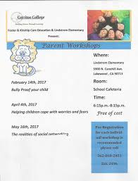 Cerritos College Map Parent Workshops Coming To Lindstrom
