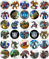24 x transformers rice paper birthday cake toppers 30 x transformers party collection edible rice wafer paper cupcake