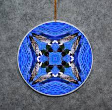 ornament christmas ceramic loon duck mandala all occasion sacred