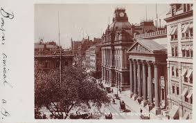 bureau de poste et banque de montréal vers 1905 post office and