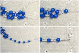 making beaded necklace images Diy a simple royal blue beaded necklace jpg