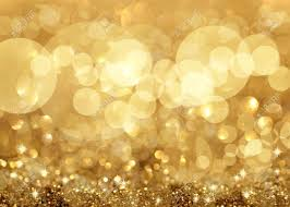 twinkley lights and golden background stock photo