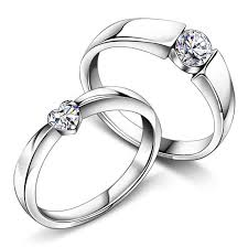 personalized rings for heart cubic zirconia diamond promise rings for couples