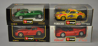 porsche model car four bburago 1 18 scale diecast model cars jaguar e coupe